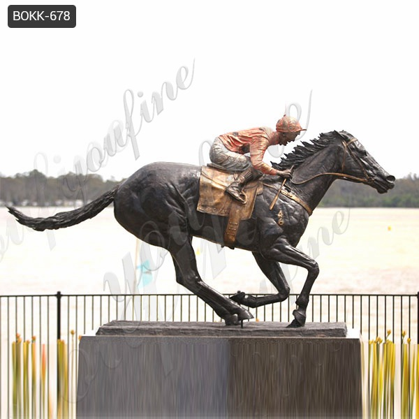 Large Outdoor Garden Bronze Racing Horse Sculpture for Sale BOKK-678