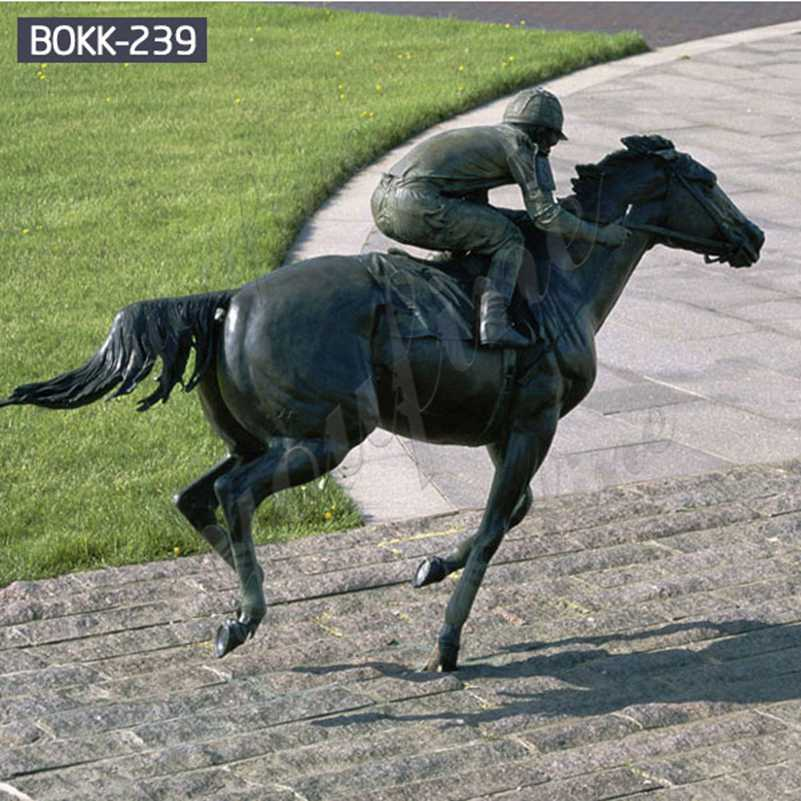 Factory Direct Large Bronze Racing Horse Statue for Racecourse BOKK-239