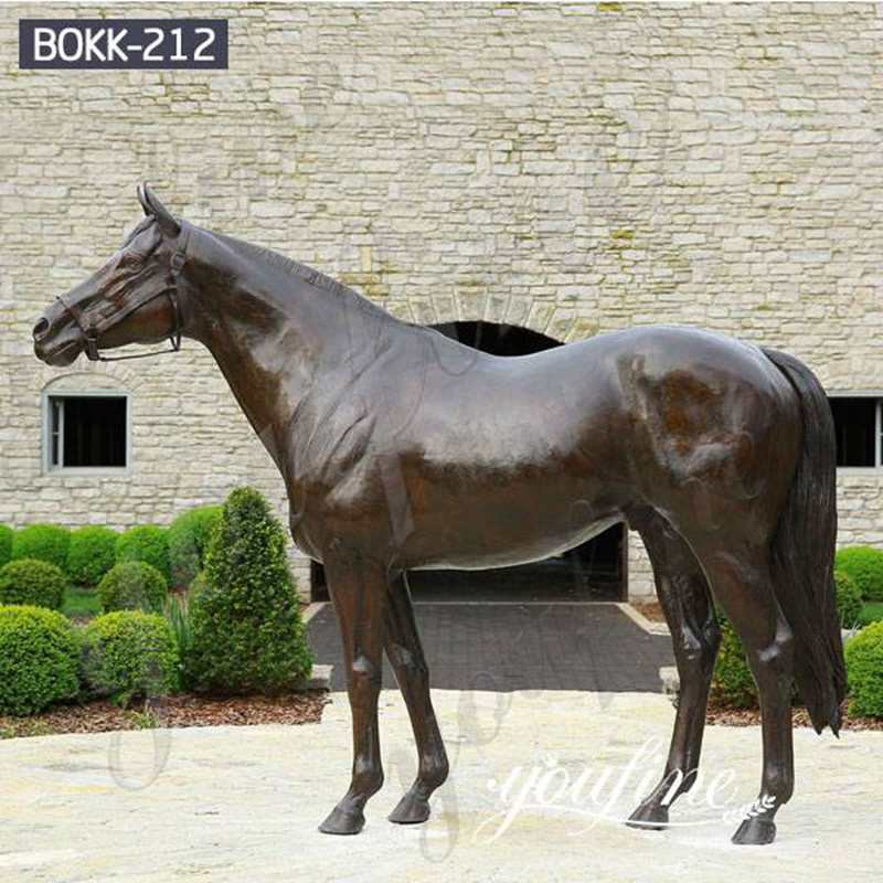 Hot Selling Life Size Bronze Arabian Horse Statue Factory Supply BOKK-212