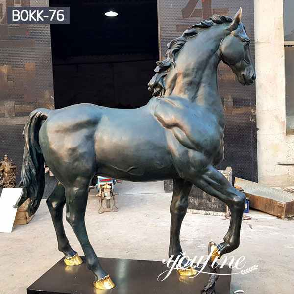 Outdoor Life Size Antique Bronze Horse Statues for Sale BOKK-76