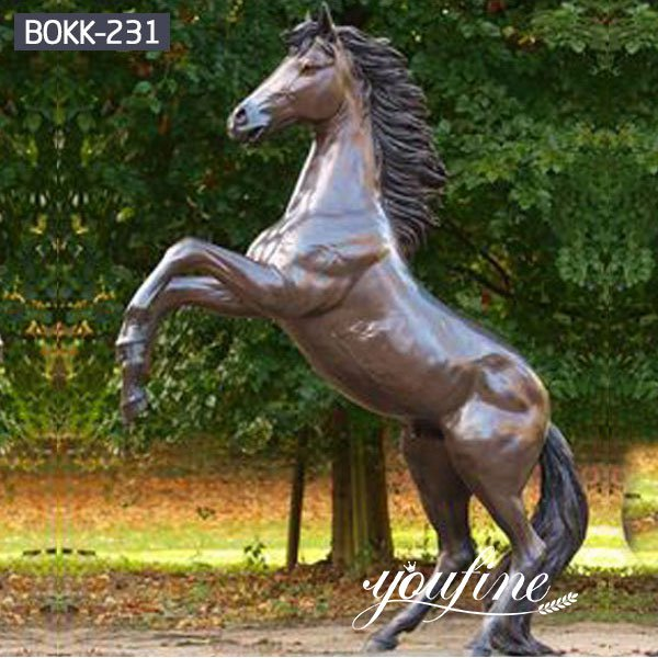 Large Jumping Bronze Horse Statue for Sale for Garden Decor BOKK-231