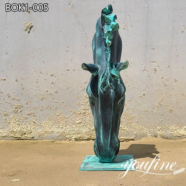 Large Size Bronze Horse Head Sculpture Outdoor Decor for Sale BOK1-005